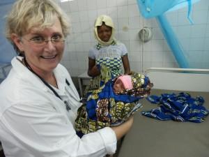 Dr. Elke bei der Arbeit